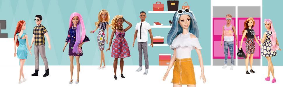 MATTEL Barbie Spiaggia Estate Moda Fashionista bambola bambina giocattolo Figura Collezione