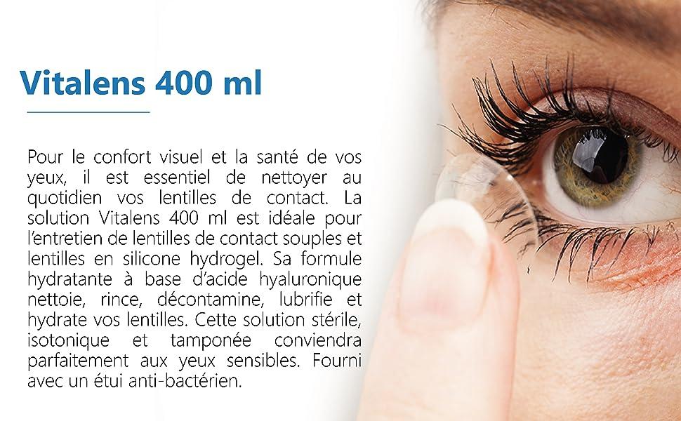 Solution pour lentilles de contact