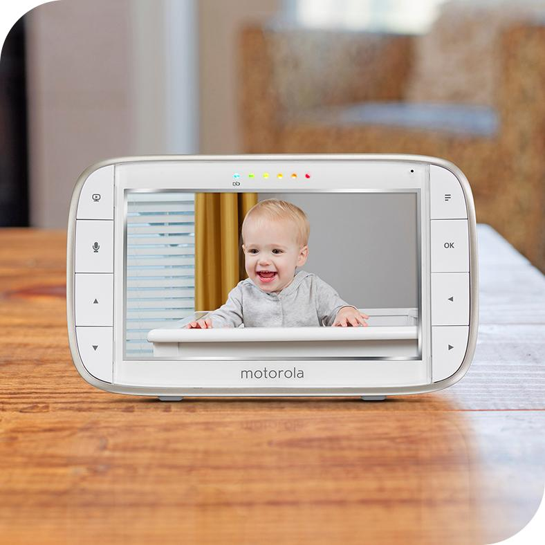 motorola mbp845connect video baby monitor with wi fi 5 inch color screen digital. Black Bedroom Furniture Sets. Home Design Ideas