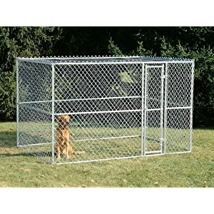 Amazon Com Midwest Homes For Pets K91066 Chain Link Portable Kennel With Sunscreen 10 By 6 By 6 Inch Dog Kennel Outdoor Pet Supplies
