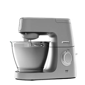 Kenwood Chef Elite KVC5320S Robot de cocina, accesorios de acero inoxidable, indicador de velocidades, 1200 W, 4.6 litros, Plata: Amazon.es: Hogar