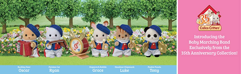limited edition, collectible, marching band, critters