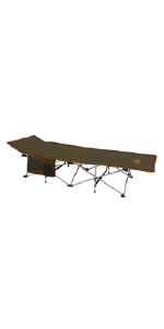 Folding Camp Cot with Accessory Pocket