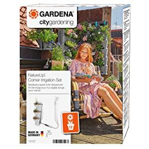 Gardena NatureUp Set de esquina, grifo, sistema de riego invisible ...