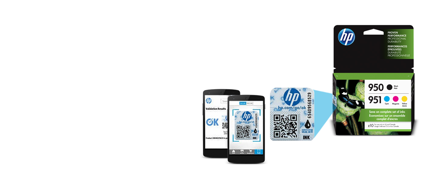 Guard against counterfeit ink  The HP security label ensures you are purchasing genuine HP products.