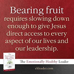 Bearing fruit requires slowing down enough to give Jesus direct access to every aspect of our lives