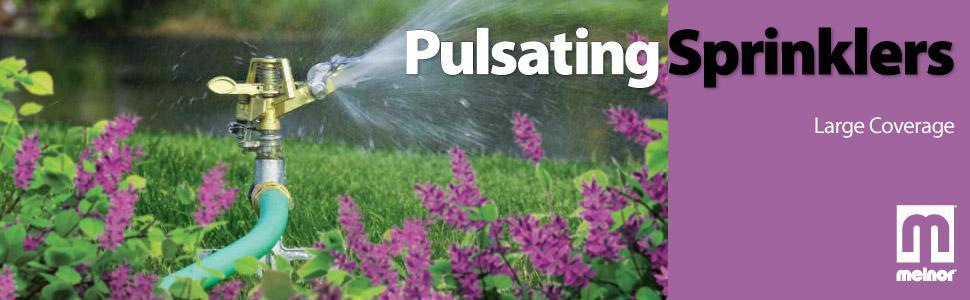 Melnor, Pulsating sprinkler, Large Lawn Sprinkler, Pulsator, Impulse sprinkler, impact sprinkler