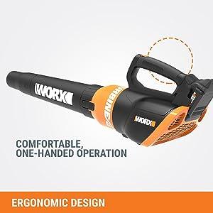 WORX WG546 Turbine 20V PowerShare 2-Speed Cordless Battery-Powered Leaf Blower