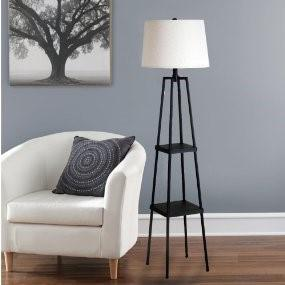 Catalina 58-inch 3-Way Étagère Floor Lamp, 19305-000 with Distressed Iron Paint
