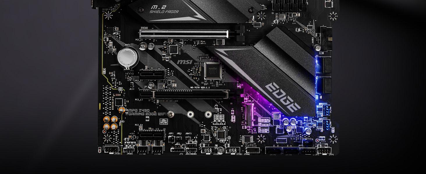 msi, mpg z490 gaming edge wifi, motherboard, intel cpu