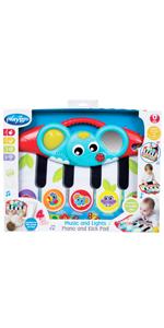 Ab 12 Monate 40170 Playgro Steck- und Sortierspiel Elefant Mit 6 Steckf/örmchen Rot//Bunt Elephant Shape Sorter BPA-frei