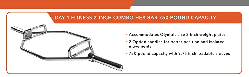 olympic hex bar, 750 pund capacity
