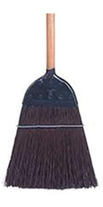 """Weiler 70325 Metal Cap Upright Broom, Brown Poly Fill, 55"""" Overall Length"""