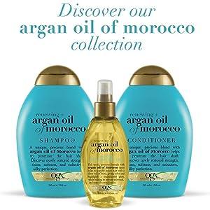 ogx, ogx moroccan argan oil, shampoo, conditioner, hair oil