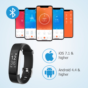 LETSCOM Fitness Tracker, Activity Tracker with Heart Rate Monitor, Step  Counter, Sleep Monitor, Calorie Counter, Pedometer, IP67 Waterproof, Smart