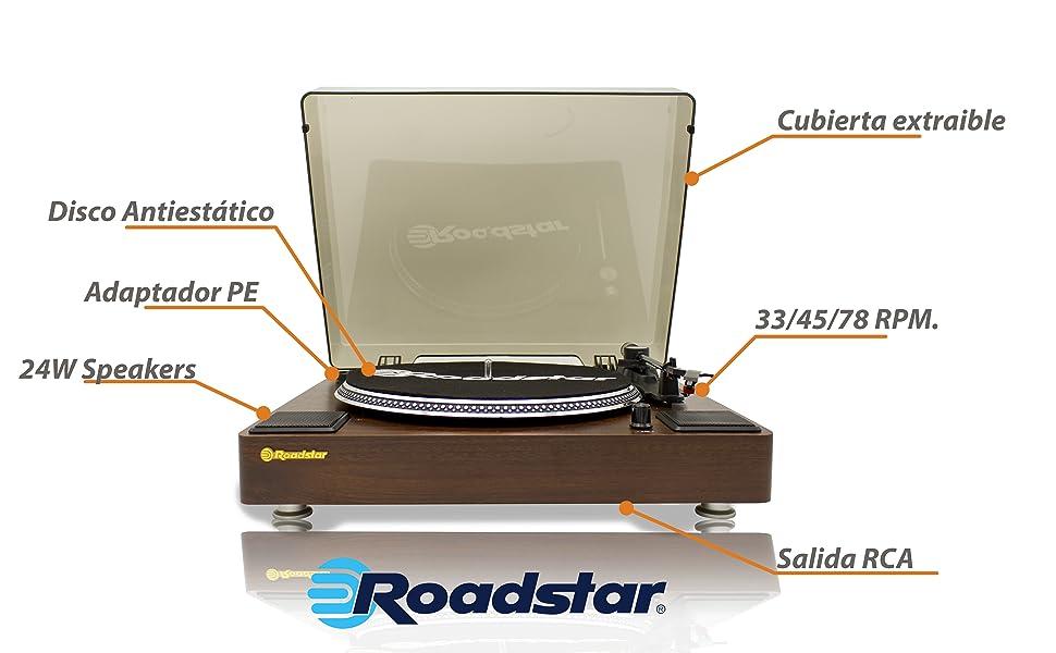 Roadstar TT-260SPK tocadisco - Tocadiscos (Tocadiscos de tracción ...