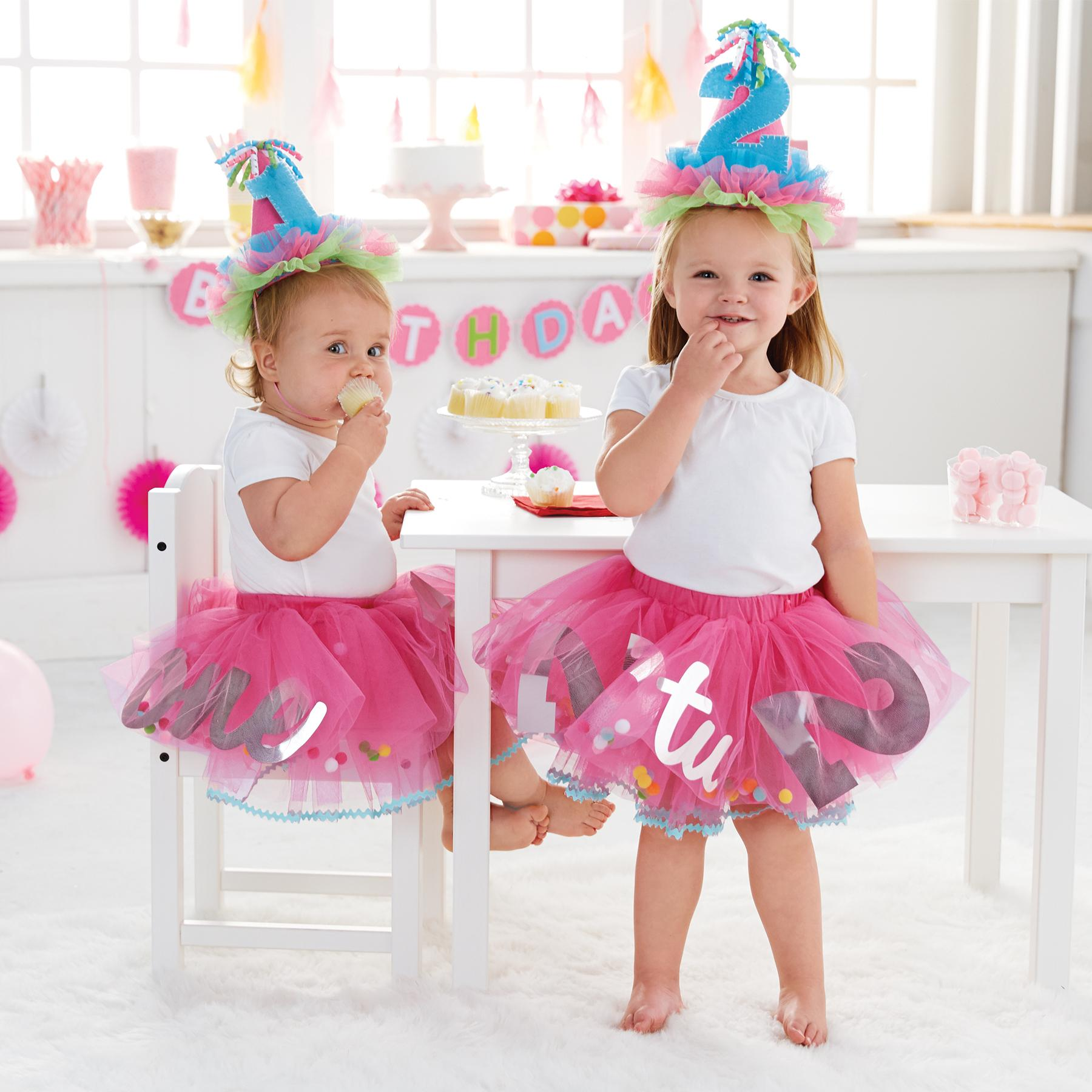 Amazon.com: Mud Pie Baby Girl's Birthday Tutu, Multi, One Size ...