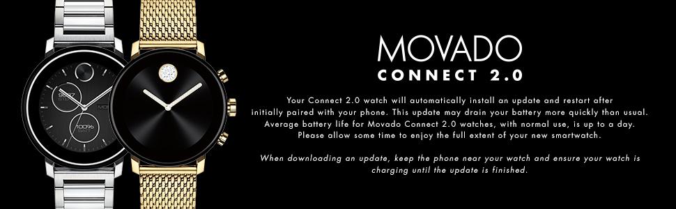 Movado Connect, Smart Watch,Smartwatch,Connect 2.0, Movado,