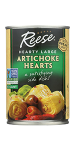 Reese Large Artichoke Hearts, 14-Ounces (Pack of 12)