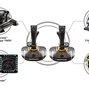 ThrustMaster - T.16000M FCS Space Sim Duo Joysticks (PC): Amazon.es: Videojuegos