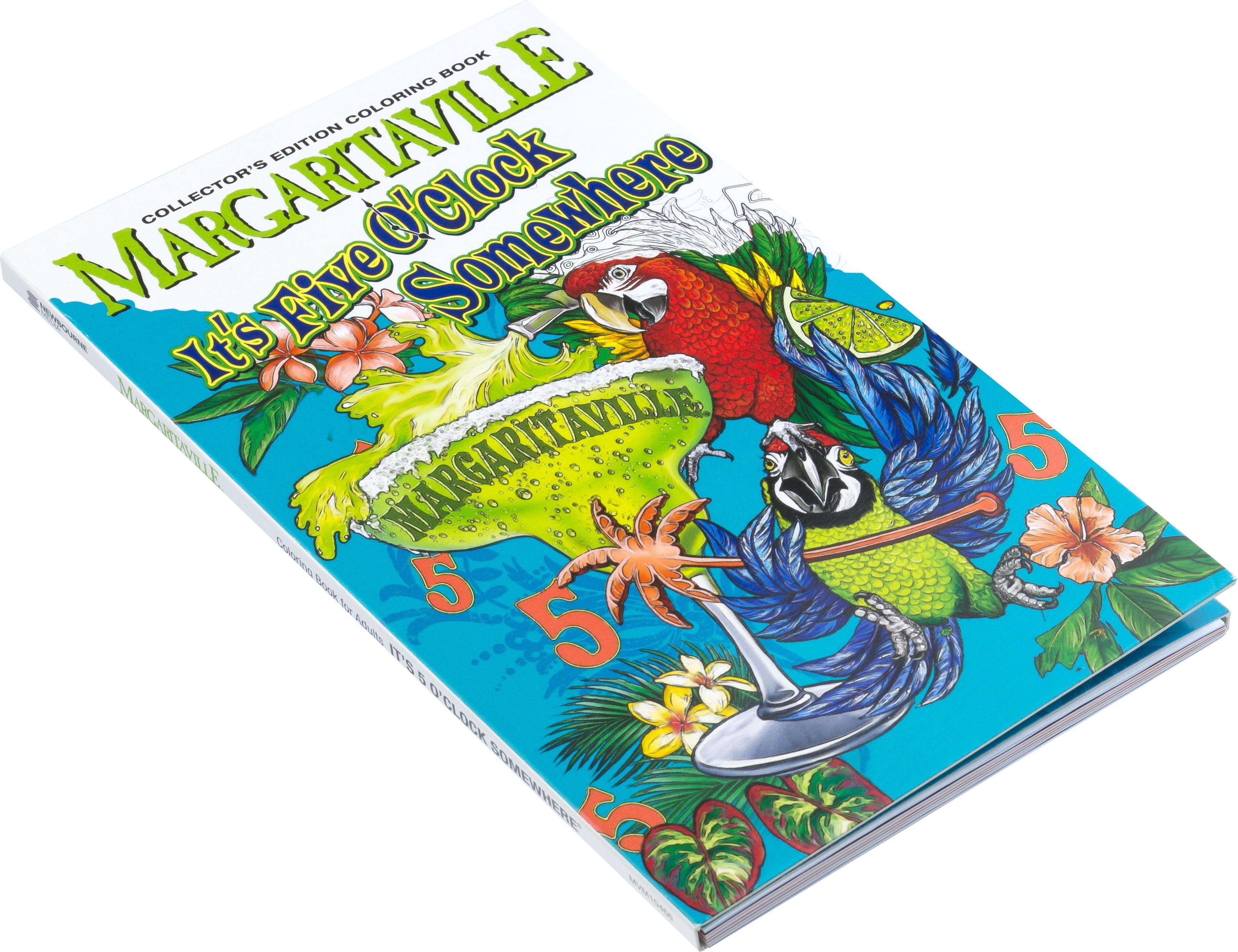 Amazon.com: Margaritaville 5 O\'Clock Somewhere Adult Coloring Book ...