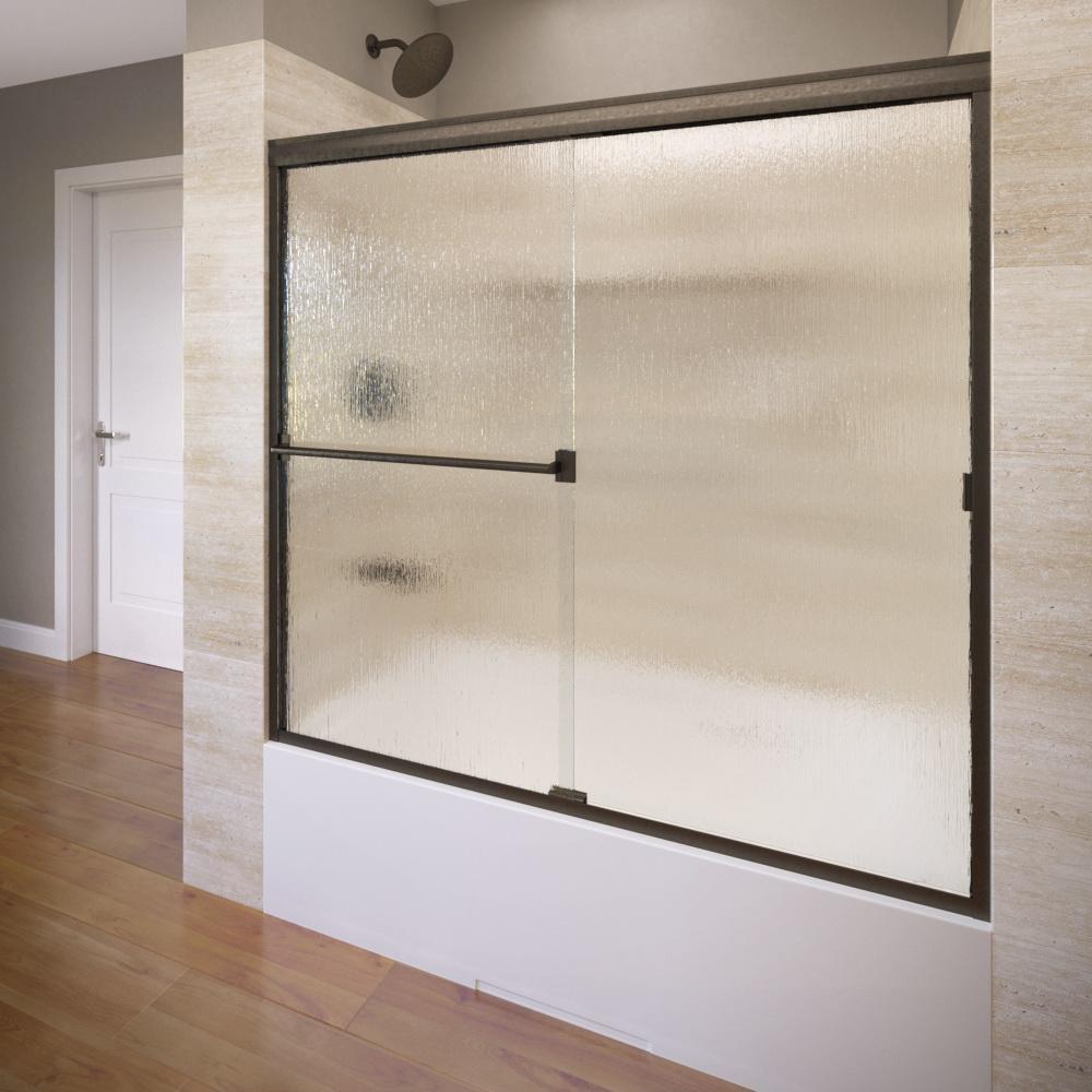 Basco 3400 60rnor Classic Sliding Bathtub Shower Door Oil
