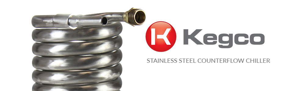 Kegco Stainless Steel Counterflow Chiller