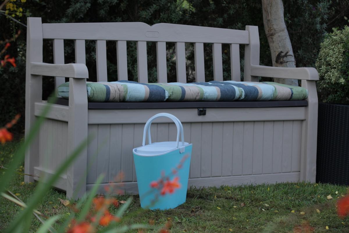 Keter Eden 70 Gal All Weather Outdoor Patio Storage Bench