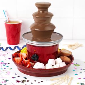 GILES /& POSNER Fontaine /à Chocolat avec Prise europ/éenne EK3428GVDEEU7 Plateau de Fruits et 100/brochettes en Bambou Inclus