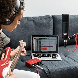 レコーディング 録音 宅録 DTM DAW ボーカル 楽器 音声 入力 セット 初心者 入門 オーディオインターフェイス オーディオインターフェイス 歌ってみた 機材 機器 スカーレット スタジオ