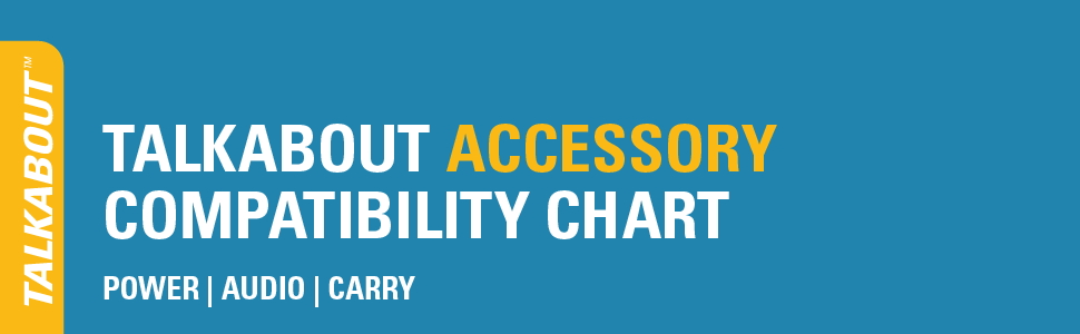 Talkabout Accessory Compatibility Chart