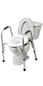 Outstanding Amazon Com Pcp Raised Toilet Seat And Safety Frame Two In Bralicious Painted Fabric Chair Ideas Braliciousco
