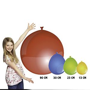 Größentabelle von Latexballons