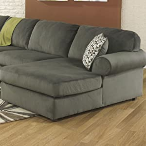 Sensational Signature Design By Ashley Jessa Place Sectional In Pewter Fabric Spiritservingveterans Wood Chair Design Ideas Spiritservingveteransorg