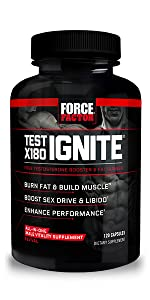 Test x180 ignite boost t level thermogenic fat burner for men build lean muscle improve performance