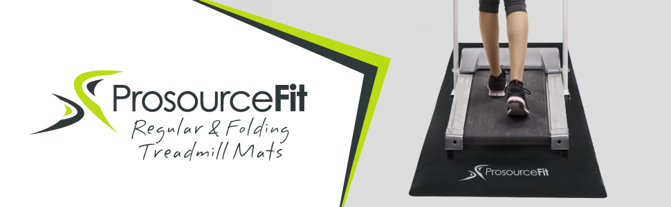 Prosource Fit Treadmill & Exercise Equipment Mats, Fold-to-Fit Folding & Regular Designs