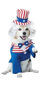 Dog costume, Uncle Sam, Costume for Dogs, Funny Dog Costume, California Costumes, Independence Day