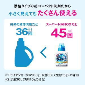 洗浄力が高い濃縮タイプ