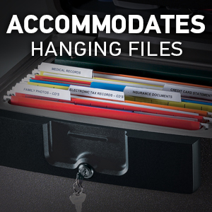 Accommodates Hanging Files