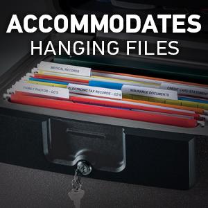 Accommodates Hanging Files
