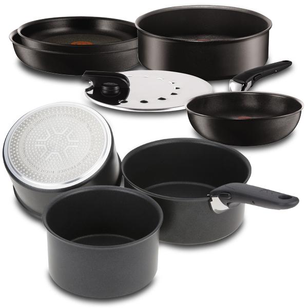 Tefal ingenio expertise set de sartenes de aluminio de for Menaje de cocina definicion