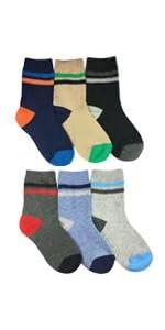 Jefferies Socks Big Boys' Multi Stripe Crew Socks 6 Pack