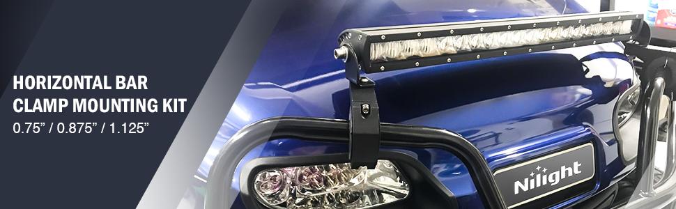 horizontal bar tube clamp, light bar mounting brackets, roof rack bull bar mounting brackets