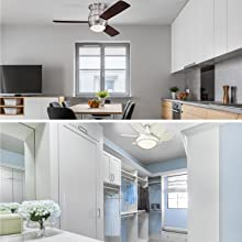 Ceiling fans for rooms with low ceilings