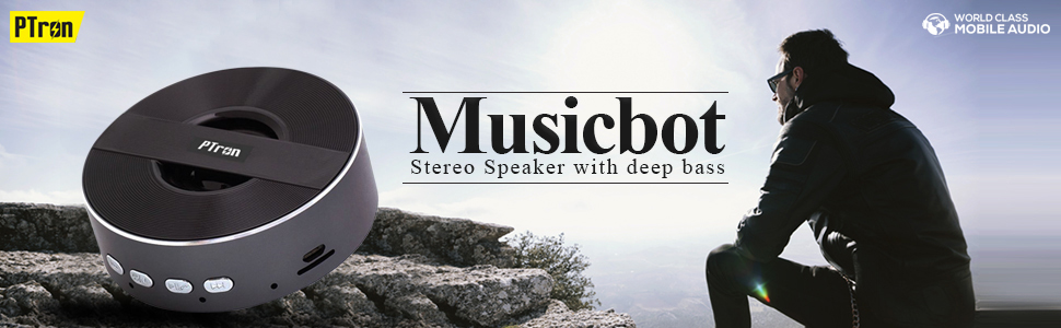 PTron Musicbot Mini Bluetooth Speaker Portable Wireless Speaker Support TF, USB For All Smartphones