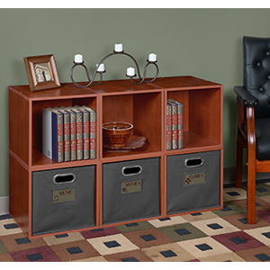 niche, regency, cube storage, cubo, cube, bin, tote, storage, label holder, grey, warm cherry, cubby
