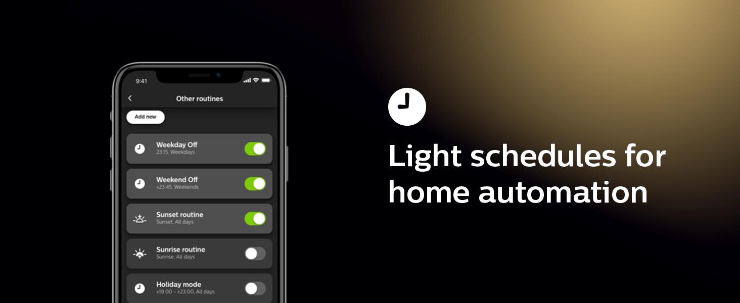 Philips;Hue;set timers;geofencing;LED;smart lighting;smart home;Hue Hub;Philips home