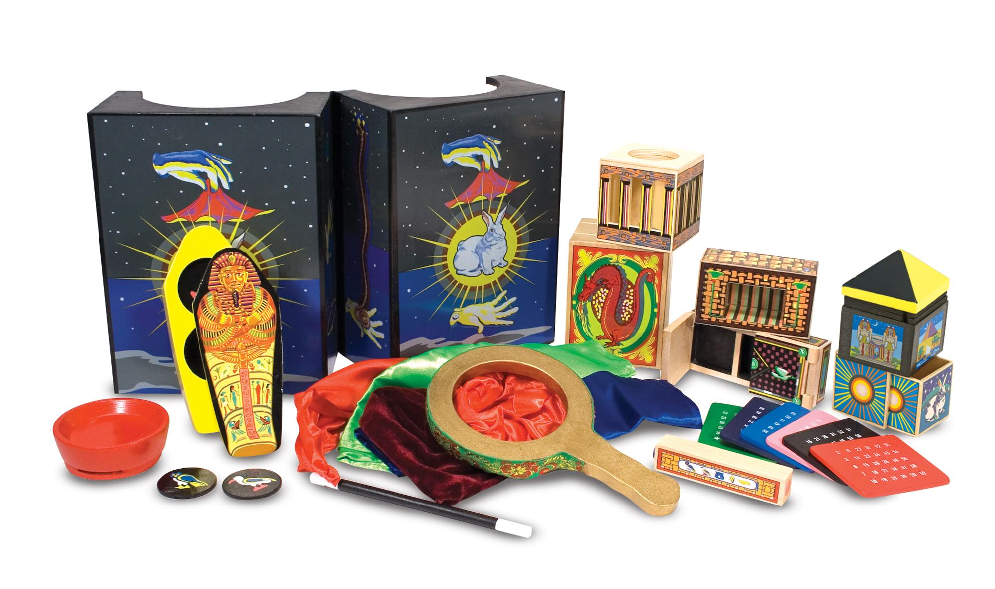 Amazon Melissa & Doug Deluxe Solid Wood Magic Set With 10