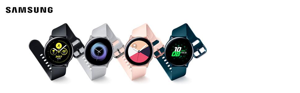 Samsung - Montre Galaxy Watch Active - Rose Poudré - Version Française