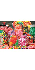Candy jigsaw puzzle, colorful puzzle, large piece jigsaw puzzle